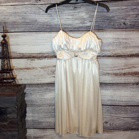 Morgan & Co. Dresses & Skirts - Morgan & Co Silk Spaghetti Strap Dress
